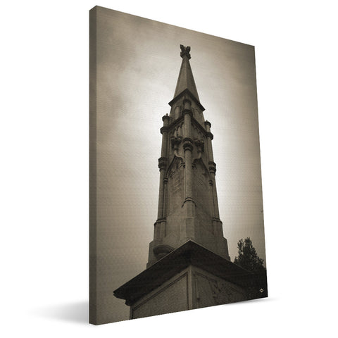 Georgia Bulldogs Confederate Monument Canvas Print