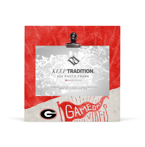 Georgia Bulldogs Gameday Vibes Picture Frame with Clip