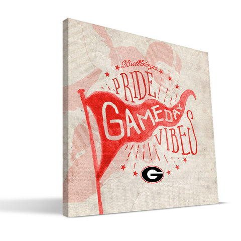 Georgia Bulldogs Gameday Vibes Canvas Print