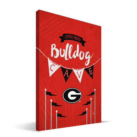 Georgia Bulldogs Little Man Canvas Print