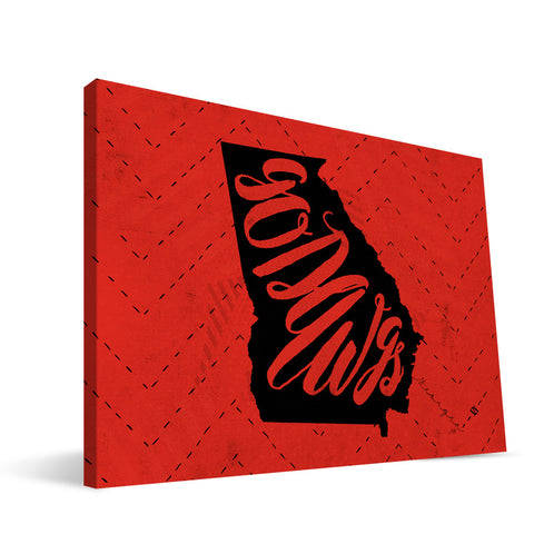 Georgia Bulldogs Mascot Canvas Print