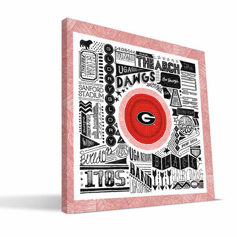Georgia Bulldogs Pictograph Canvas Print