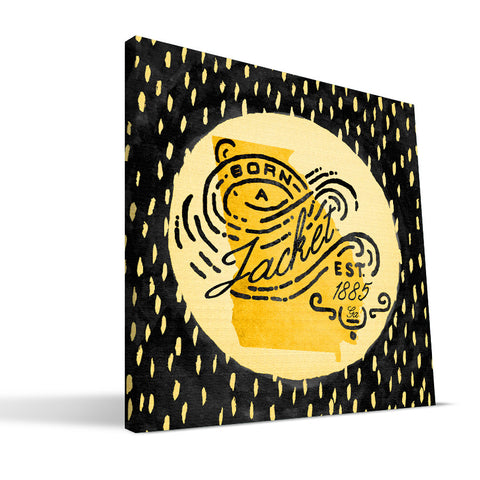 Georgia Tech Yellow Jackets Born a Fan Canvas Print