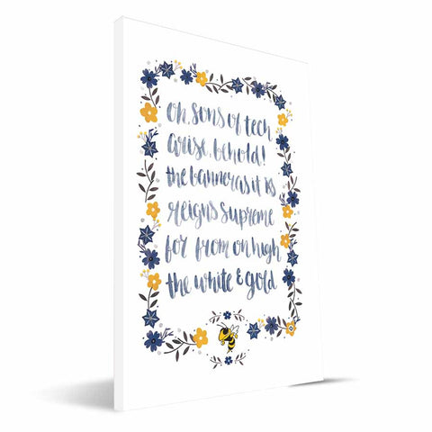 Georgia Tech Yellow Jackets Hand-Painted Song Canvas Print