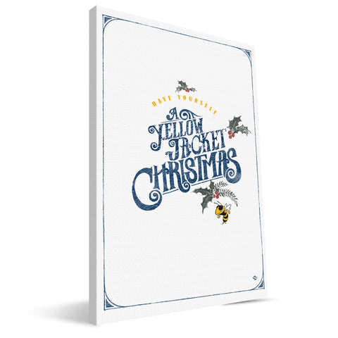 Georgia Tech Yellow Jackets Merry Little Christmas Canvas Print