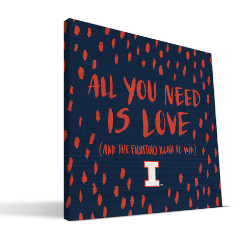 Illinois Fighting Illini All You Need Canvas Print