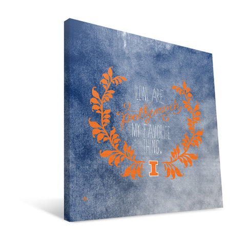 Illinois Fighting Illini Favorite Thing Canvas Print