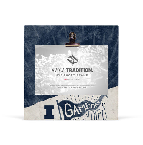 Illinois Fighting Illini Gameday Vibes Picture Frame with Clip