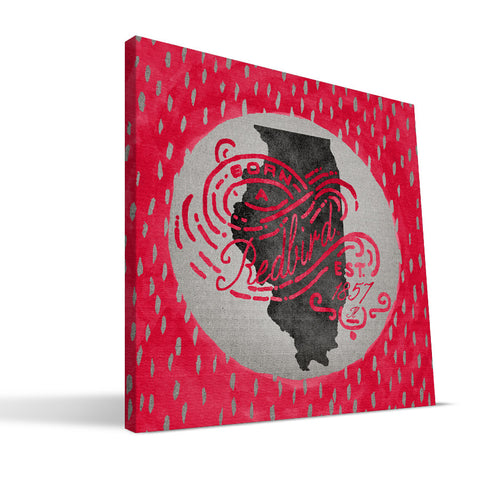 Illinois State Redbirds Born a Fan Canvas Print