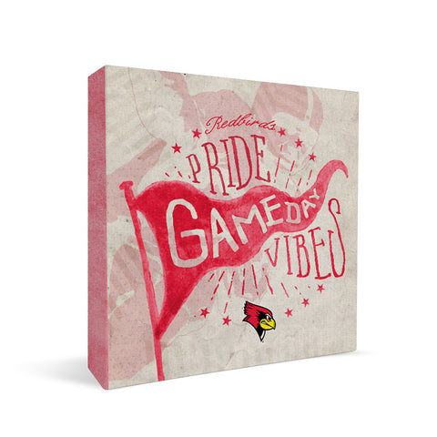Illinois State Redbirds Gameday Vibes Square Shelf Block