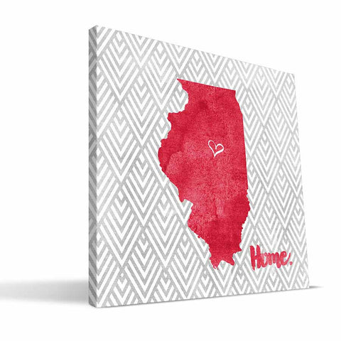 Illinois State Redbirds Home Canvas Print