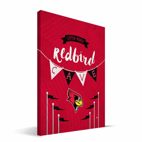 Illinois State Redbirds Little Man Canvas Print
