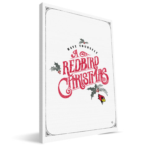 Illinois State Redbirds Merry Little Christmas Canvas Print