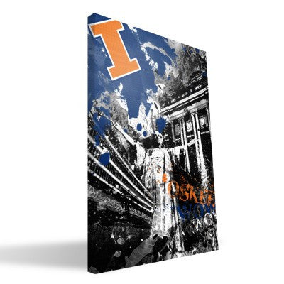 Illinois Fighting Illini Spirit Canvas Print