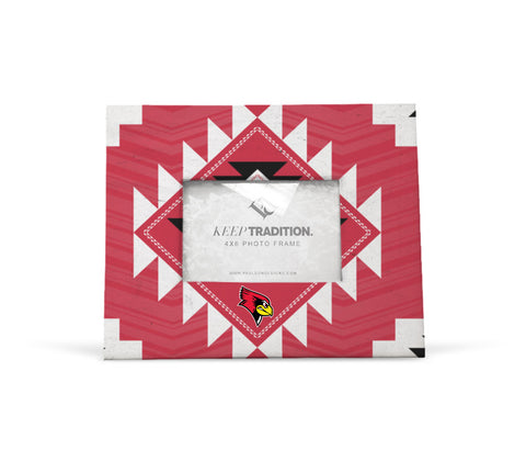 Illinois State Redbirds Tribal Picture Frame