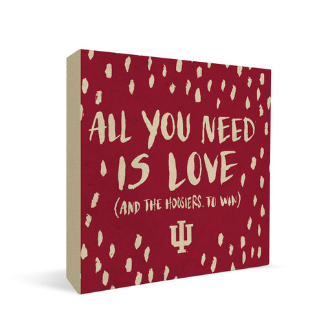 Indiana Hoosiers All You Need Square Shelf Block