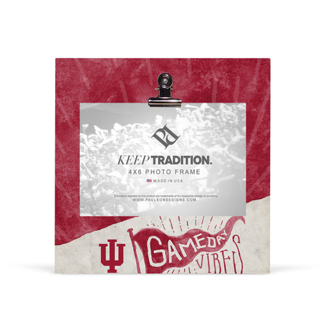 Indiana Hoosiers Gameday Vibes Picture Frame with Clip