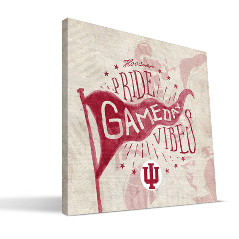 Indiana Hoosiers Gameday Vibes Canvas Print
