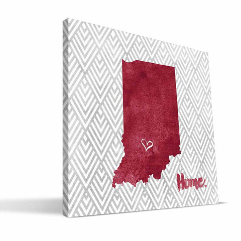 Indiana Hoosiers Home Canvas Print