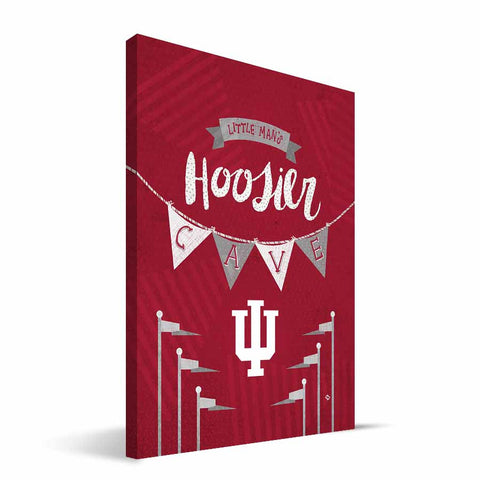 Indiana Hoosiers Little Man Canvas Print