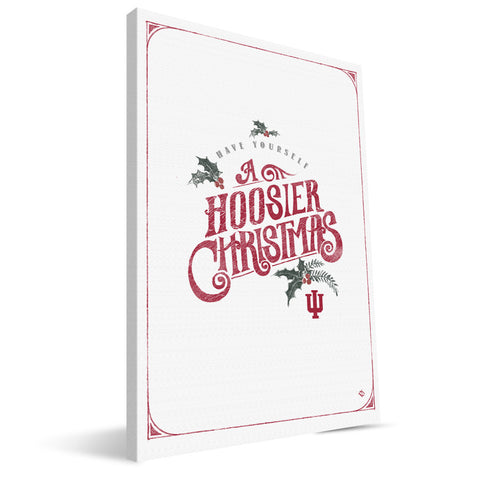 Indiana Hoosiers Merry Little Christmas Canvas Print