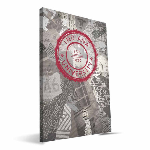 Indiana Hoosiers Scrapbook Canvas Print