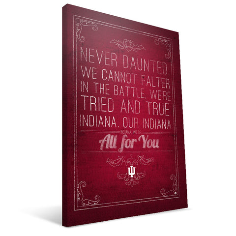 Indiana Hoosiers Song Canvas Print