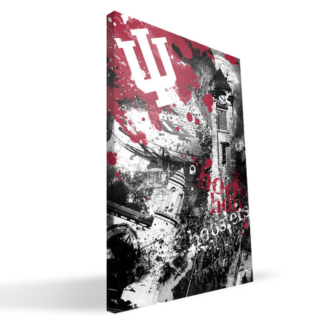Indiana Hoosiers Spirit Canvas Print