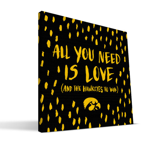 Iowa Hawkeyes All You Need Canvas Print
