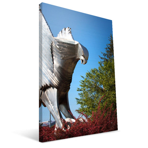 Iowa Hawkeyes Hawk Statue Canvas Print