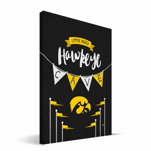Iowa Hawkeyes Little Man Canvas Print