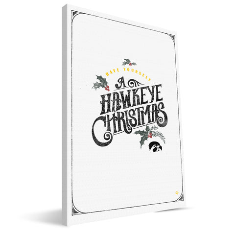 Iowa Hawkeyes Merry Little Christmas Canvas Print