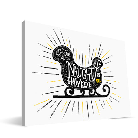 Iowa Hawkeyes Naughty or Nice Canvas Print