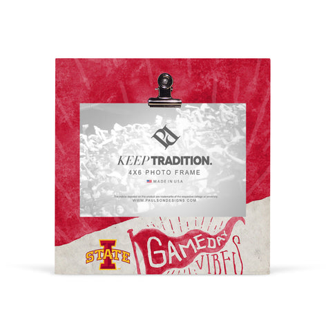 Iowa State Cyclones Gameday Vibes Picture Frame with Clip