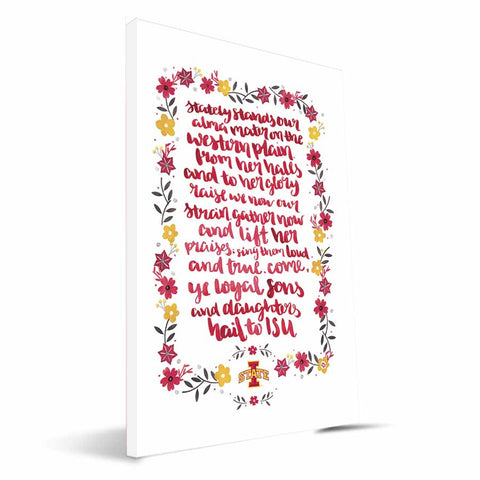 Iowa State Cyclones Hand-Painted Song Canvas Print