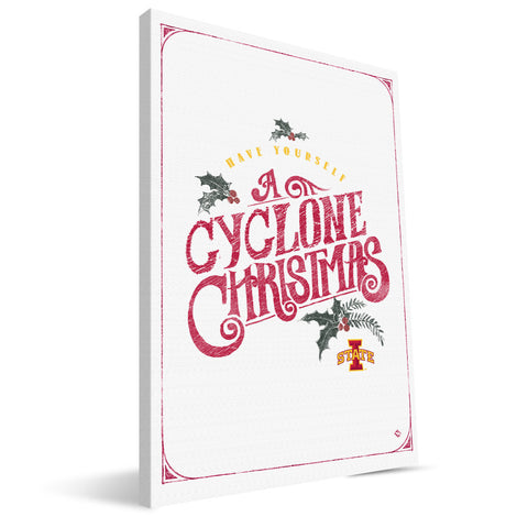 Iowa State Cyclones Merry Little Christmas Canvas Print