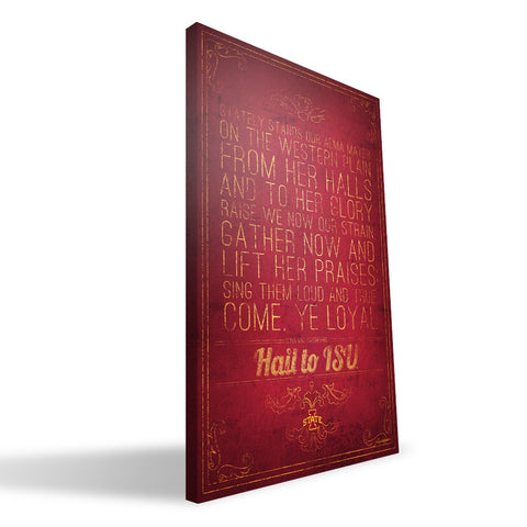 Iowa State Cyclones Song Canvas Print