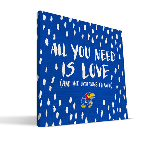 Kansas Jayhawks All You Need Canvas Print