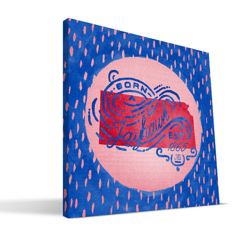 Kansas Jayhawks Born a Fan Canvas Print