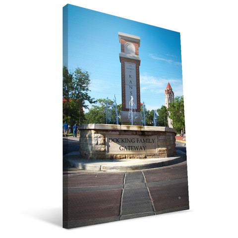 Kansas Jayhawks Docking Family Gateway Canvas Print