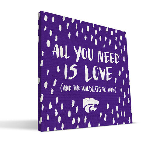 Kansas State Wildcats All You Need Canvas Print