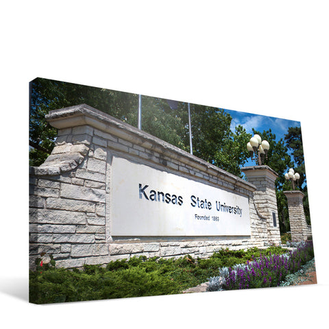 Kansas State Wildcats Entry Sign Canvas Print
