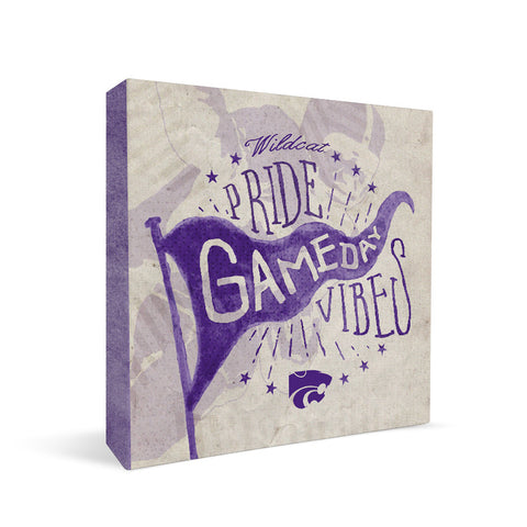 Kansas State Wildcats Gameday Vibes Square Shelf Block