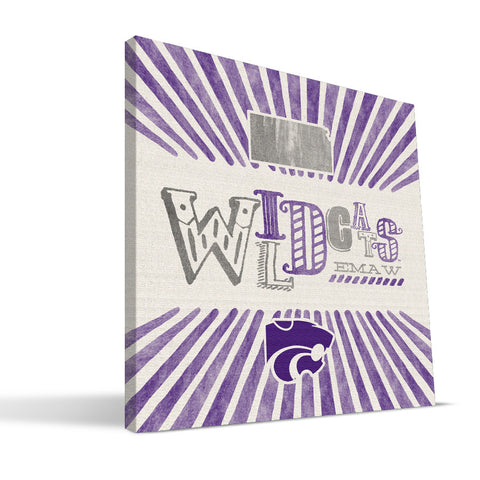 Kansas State Wildcats State Canvas Print