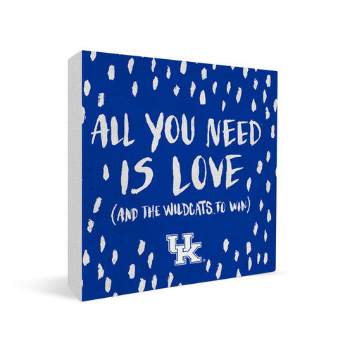 Kentucky Wildcats All You Need Square Shelf Block