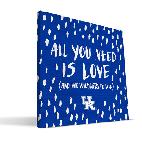 Kentucky Wildcats All You Need Canvas Print