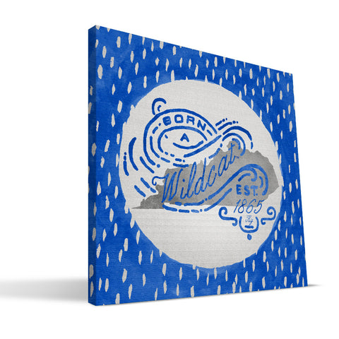 Kentucky Wildcats Born a Fan Canvas Print