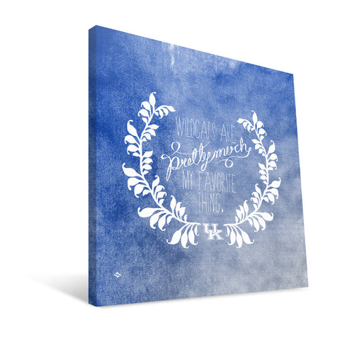 Kentucky Wildcats Favorite Thing Canvas Print