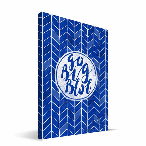 Kentucky Wildcats Geometric Canvas Print