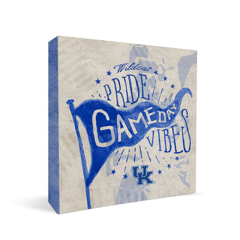 Kentucky Wildcats Gameday Vibes Square Shelf Block